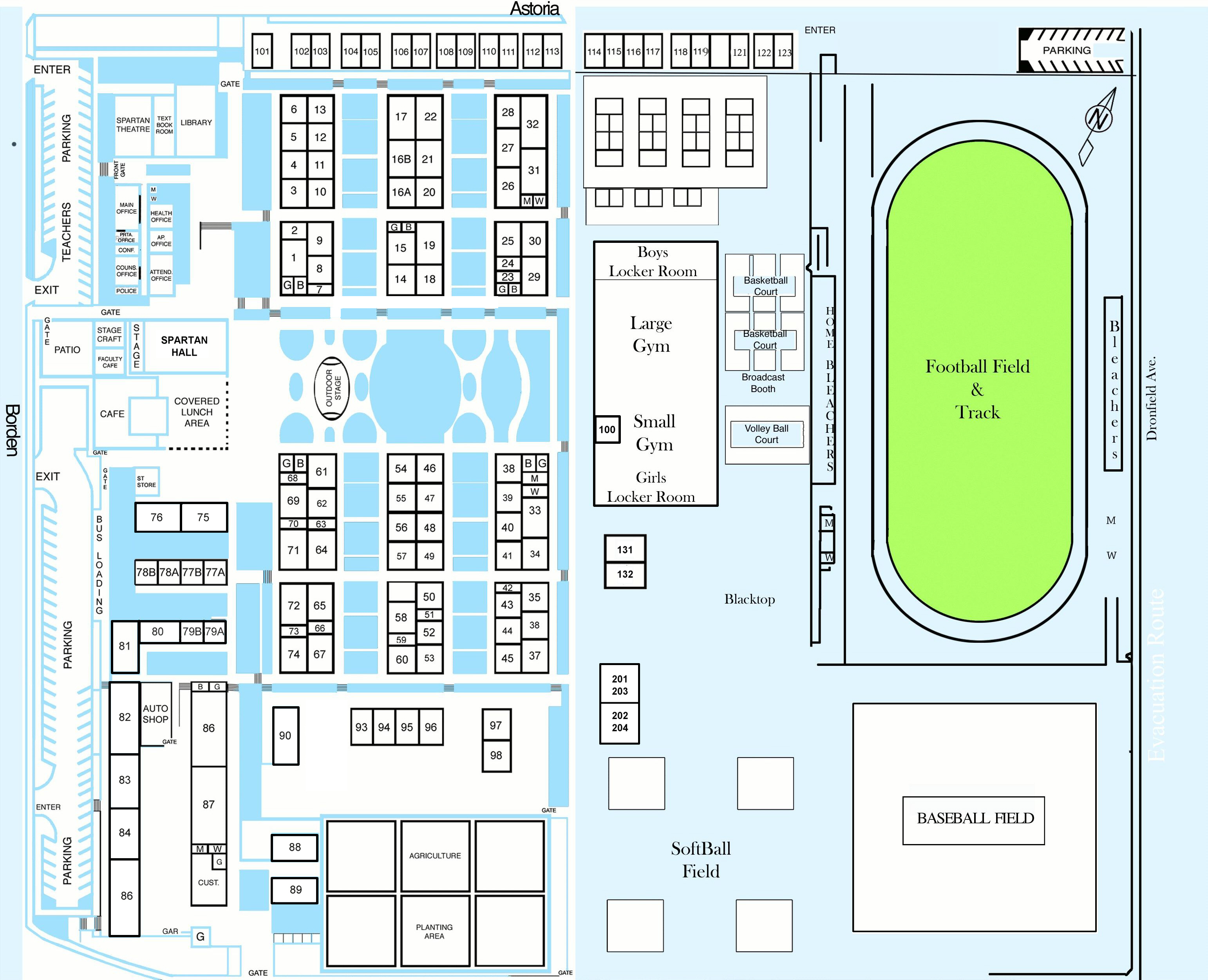 Sylmar Charter High School - Los angeles unified map