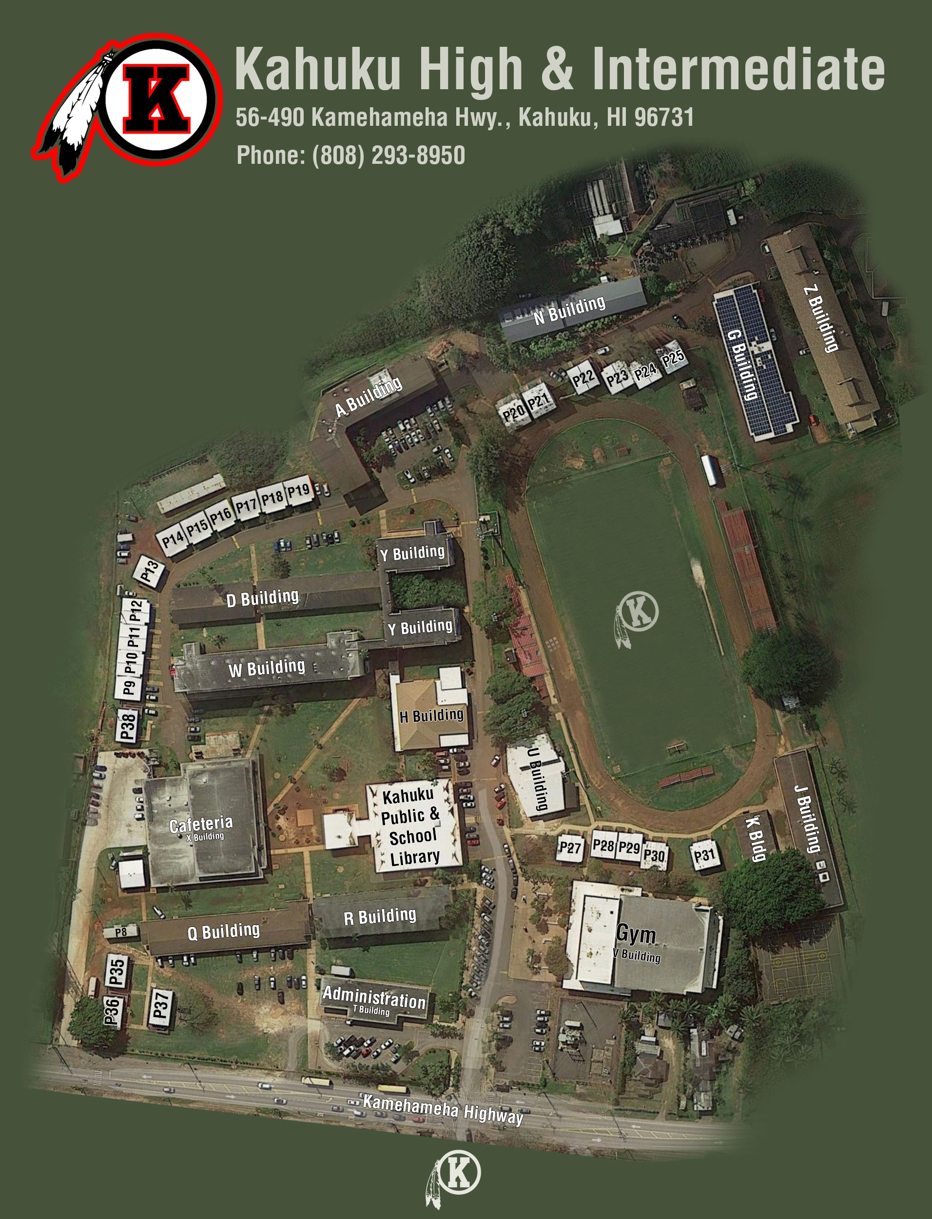 Honolulu Community College Campus Map.Kahuku High And Intermediate School